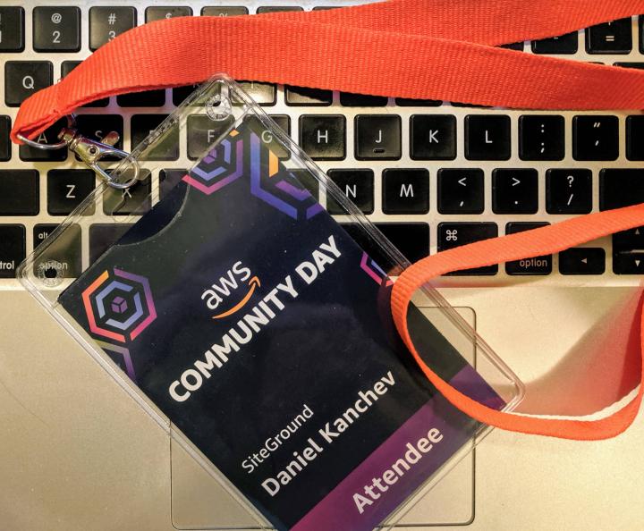 AWS Sofia conference badge